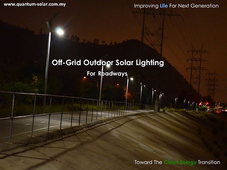 off-Grid Outdoor Solar Lighting for Roadways