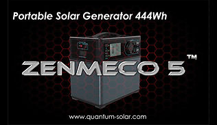 Portable Solar Generator Zenmeco 5 Video