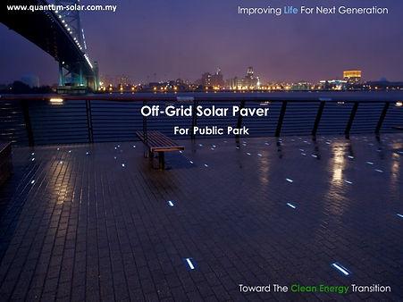 off grid solar paver for public park