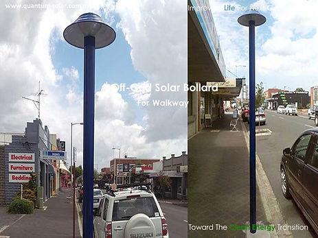 off grid solar bollard for walkway