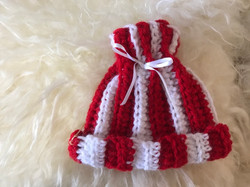 Red and White Striped Hat by Nancy MacDowell