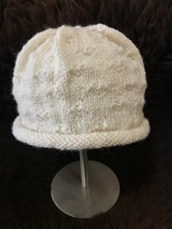 White Knit Hat by Carol P.