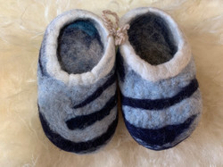 Blue and White Slippers by Ash Grove Farm