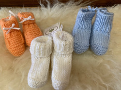 Infant Booties by Monica C.