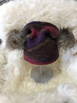 Fur Pom Pom Hat by Ruthanne