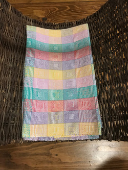 Squares Blanket 3 by Claire Milne