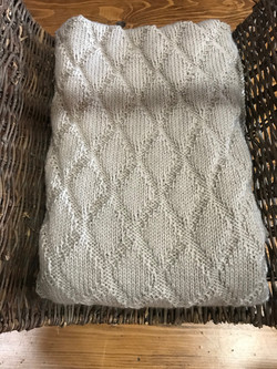 Large Afghan Oatmeal by Hilary Silver