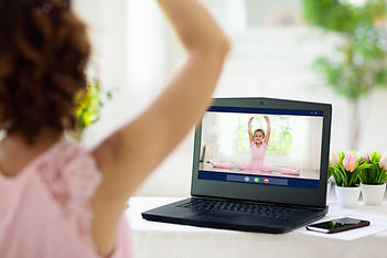 Ballet lesson online. Remote learning fo