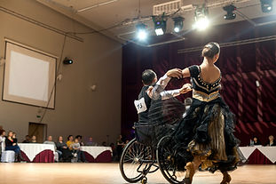 contest of sport dances on wheelchairs .