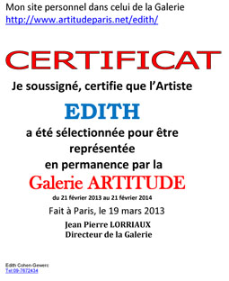 certificat  - Artitude