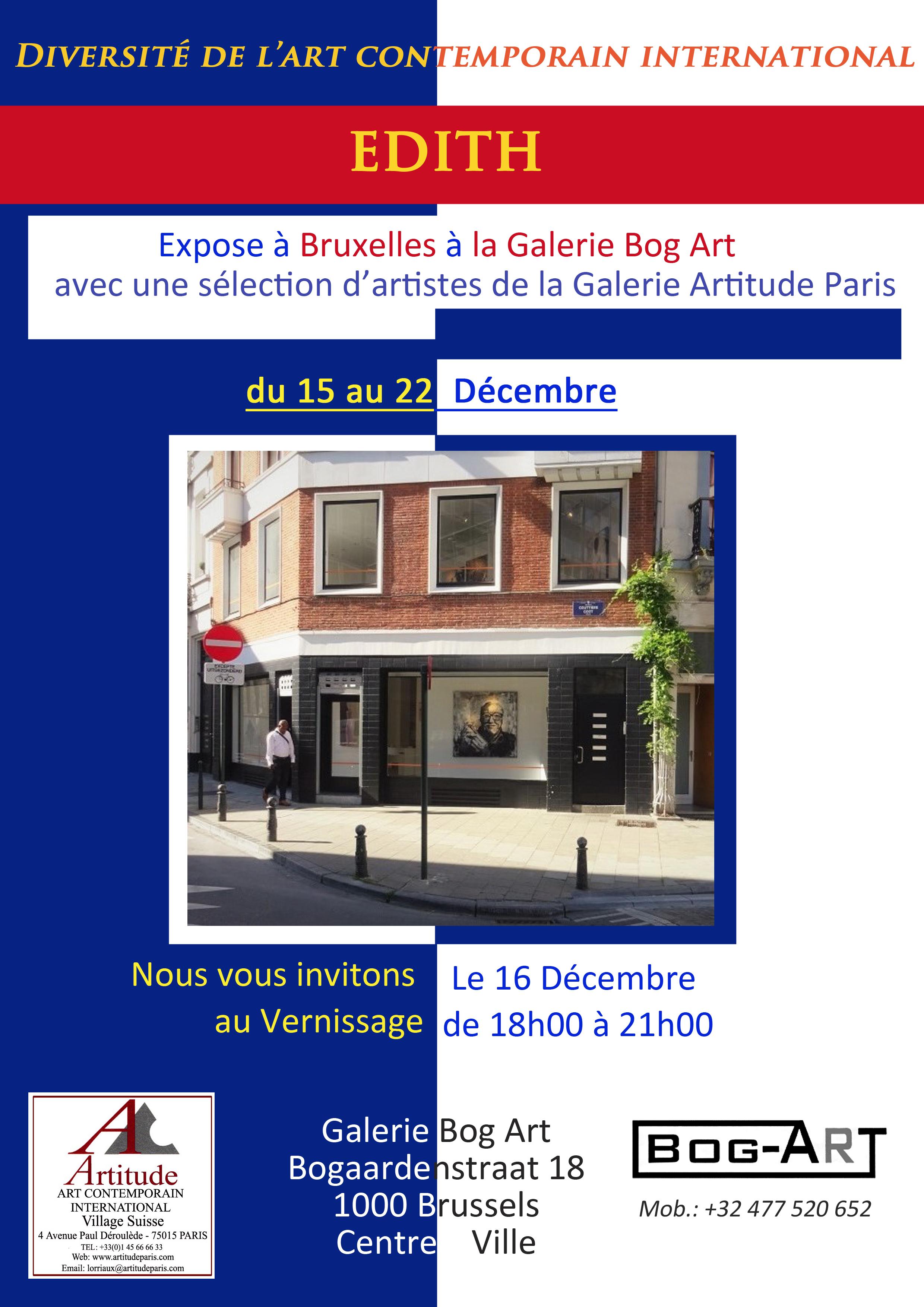 Exposition Bruxelles Edith