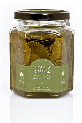 Caper Leaves in E.V.O. Oil La Nicchia Pantelleria - 220gr