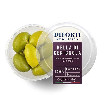 Olives Bella di Cerignola Whole Green Diforti - 180gr net
