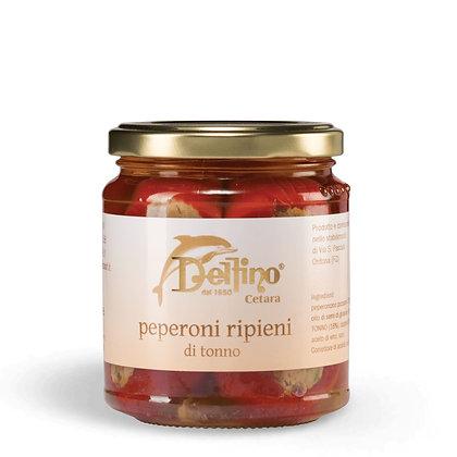 Pepper stuffed with Tuna in Oil brand Delfino (Cetara) - 290gr