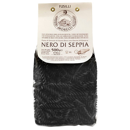 Fusilli Black Squid Ink Morelli - 500gr