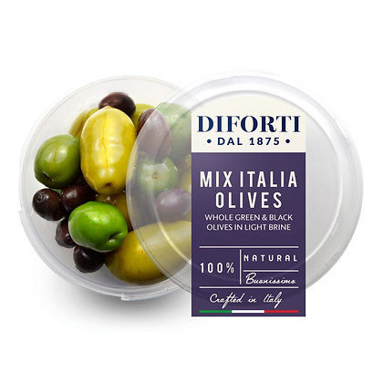 Olives Mix Italia Whole Diforti - 180gr net