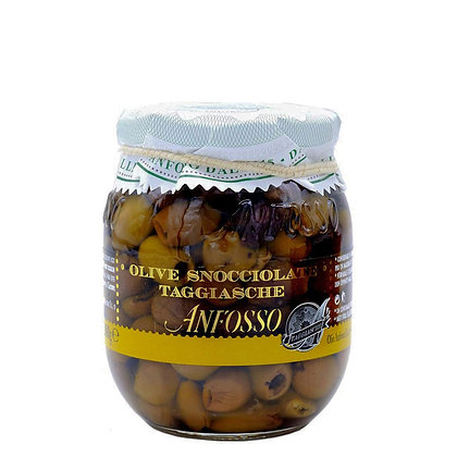 Taggiasche Olives Pitted in Extra Virgin Olive oil Anfosso - 280gr