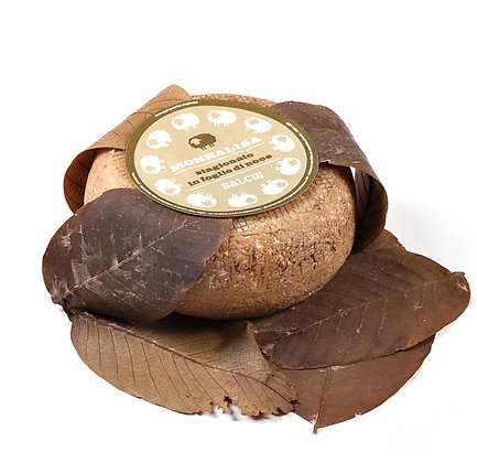 Pecorino Toscano wrapped in walnut leaves