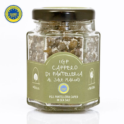 I.G.P. Capers Small in Sea Salt La Nicchia Pantelleria - 90gr