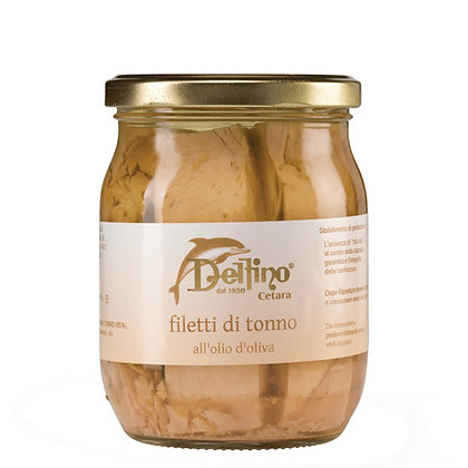 Tuna Fillets in Olive Oil brand Delfino (Cetara) - 545gr