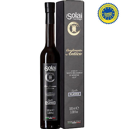 Ancient Condiment with Balsamic Vinegar of Modena IGP Platino I Solai - 100ml