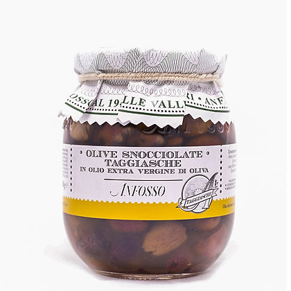 Taggiasche Olives Pitted in Extra Virgin Olive oil Anfosso - 650gr