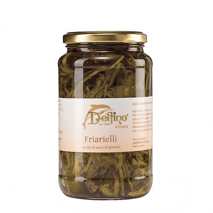 Friarielli Turnip Tops brand Delfino (Cetara) - 290gr