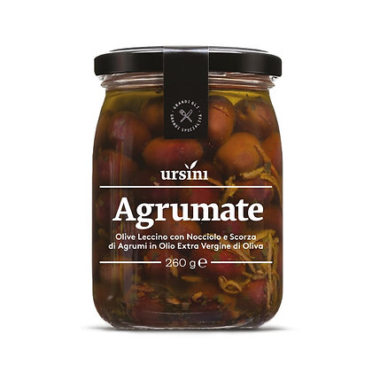 Olives Leccino Whole with Citrus in E.V.O. Oil Ursini - 260gr