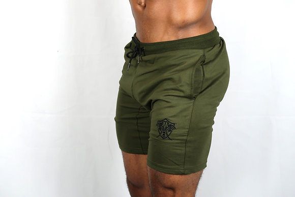"Military Green Vero Mastodon Iconic ""Leg Day"" Dry Fit Sports Shorts"
