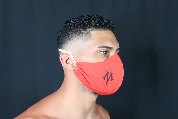 "Red Mask, with signature comfort strap - vinyl ""M"""