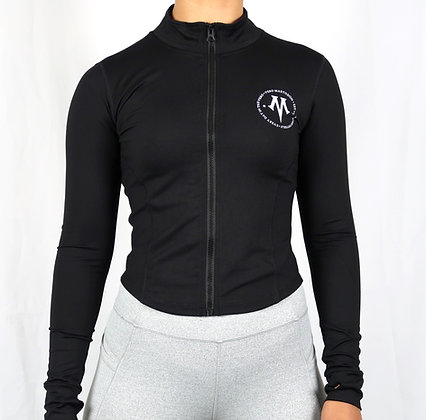 Women's Vero Constellation Black Athletic Dry Fit Fitness Jacket