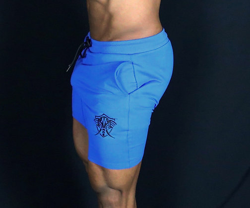 "Royal Blue Vero Mastodon Iconic ""Leg Day"" Shorts"