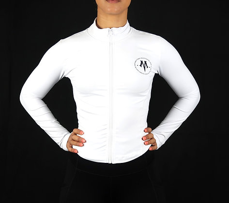 Women's Vero Constellation White Athletic Dry Fit Fitness Jacket