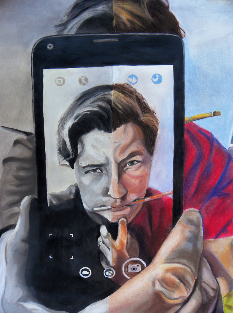 Social Media Trap | Angela M Stout Art