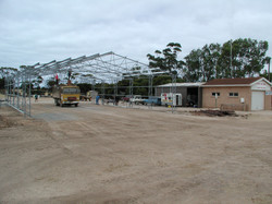 Port Victoria Base being constructed