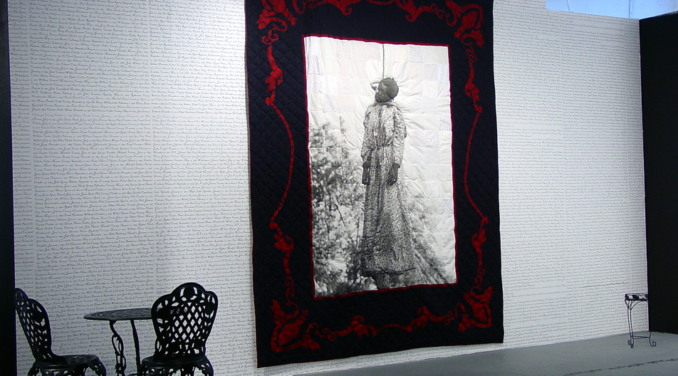Quilt I, Her Name Was Laura Nelson.
