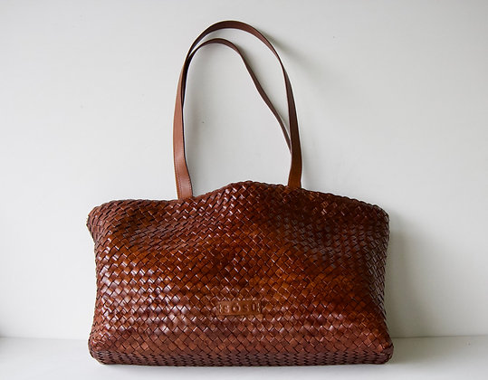 St-Germain Woven Leather Bag