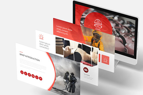 OHS and fire protection - presentation template for training over 100 animated