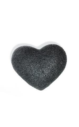 The Cleansing Sponge - bamboo charcoal heart