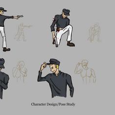 Gun Man Character Design