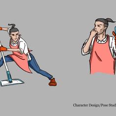 Housekeeper Character Design