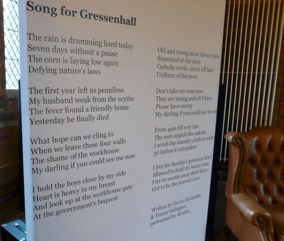 Workhouse lyrics on display!
