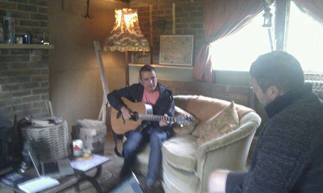 Songwriting day in The Barn