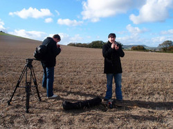 Long Man video shoot
