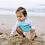 Thumbnail: Girls Rashguard Set with Snap Swim Diaper | White Rainbow Fish
