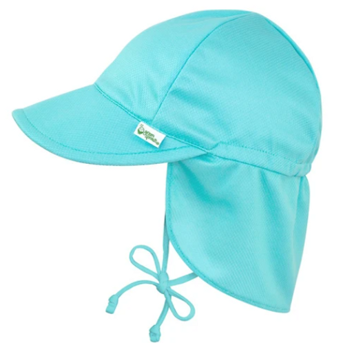 Breathable Swim + Sun Flap Hat | Blue