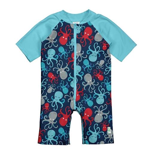 Swim Sunsuit | Navy Octopus