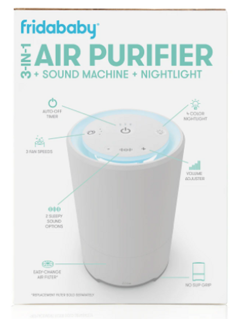 3-in-1 Air Purifier+ Sound Machine + Nightlight
