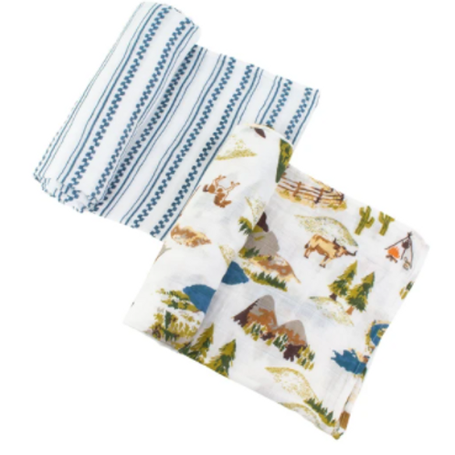 Muslim Swaddle Blanket   Wyoming & Western Stripe
