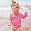 Thumbnail: Breathable Sun Protection Swim Shirt | Light Pink